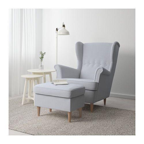 STRANDMON Fotpall Nordvalla ljusgrå IKEA Fåtölj Pinterest Sovrum, House och Inredning