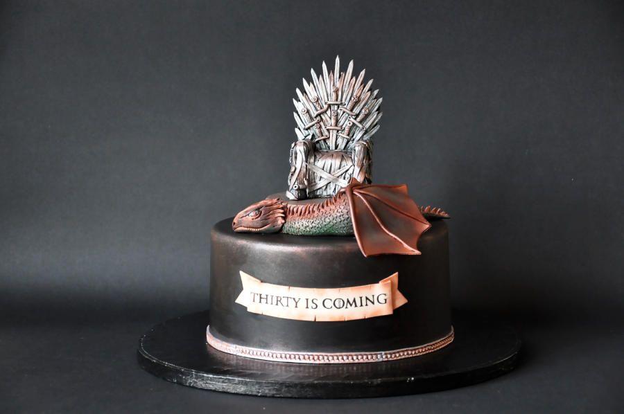 Game of Thrones cake for a 30th birthday Chocolate Garash cake