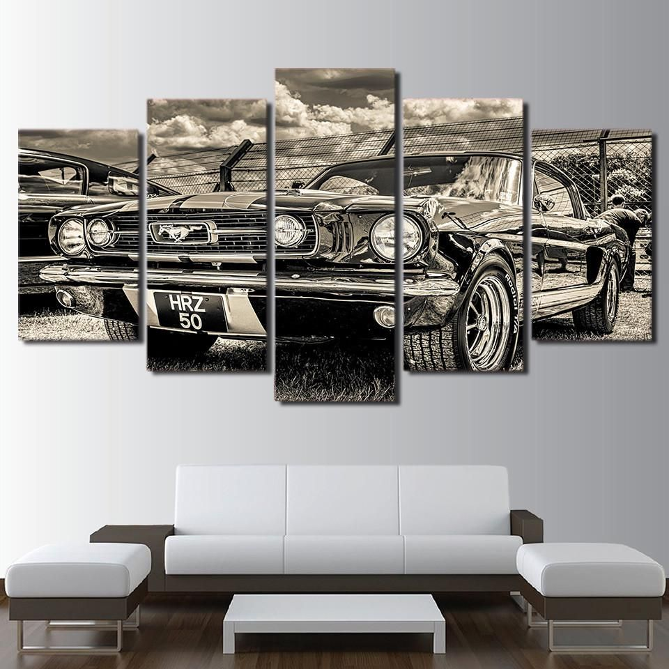 1965 Ford Mustang Painting Wall Art Canvas Print