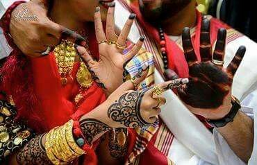 Sudanese Bride Groom With Henna In Jirtig Traditional