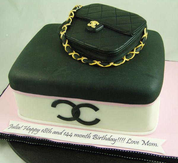 Chanel Cake Handbagcake Our Birthday Cakes For Adults Pinterest