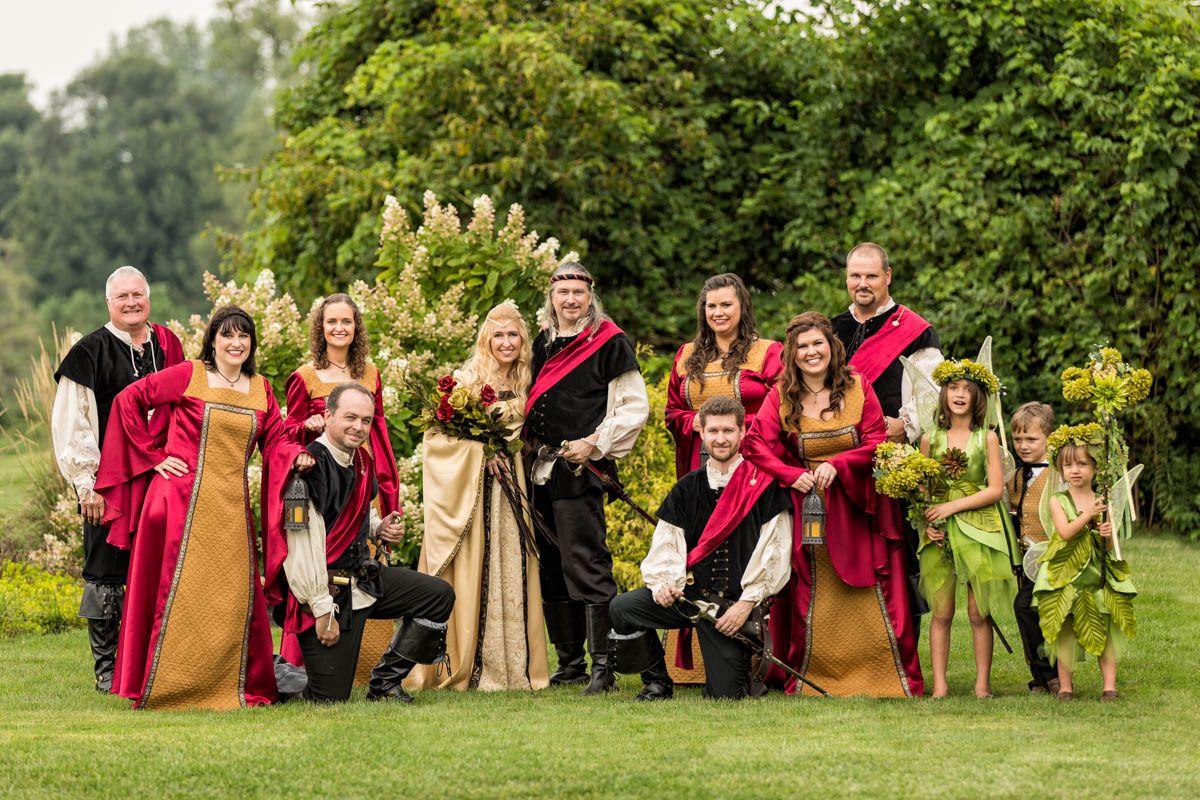 wedding photography | bridal party | #medieval wedding theme