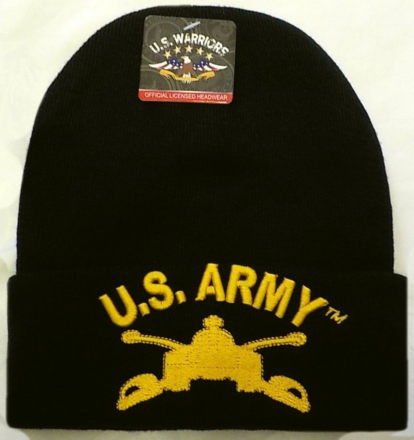271b92f810b U.S. ARMY YELLOW ARMOR BRANCH SCHOOL CAVALRY M-26 TANK BEANIE WATCH CAP SKI  HAT  PREMIUMHATS  Beanie