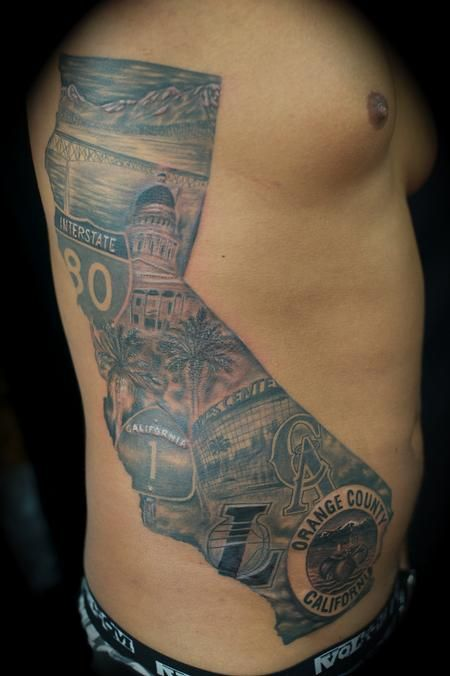 So awesome cali mural california tattoos and trends for Arm mural tattoos