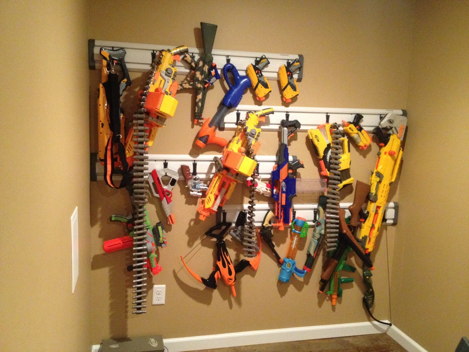 Nerf Gun Rack Nerf Gun Rack
