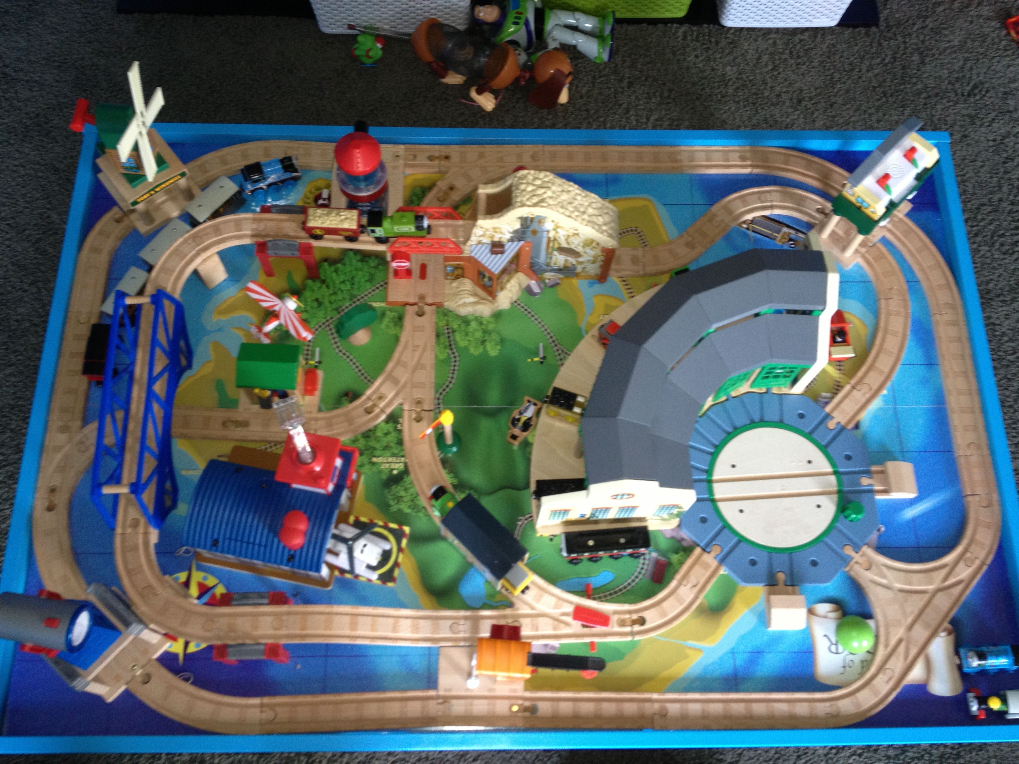 Thomas Wooden Railway Island Of Sodor Wooden Train Table Wooden Train Track Toy Train