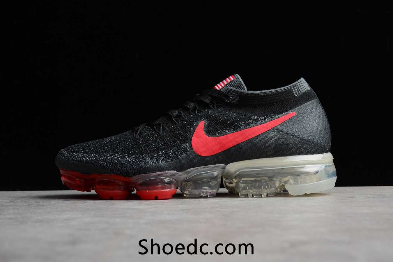 New Nike Air VaporMax 2018 Flyknit Black USA Flag Women Men ... e39dbcee63