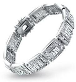Mens Silver Bracelets Bracelets Mens Diamond Bracelet Silver