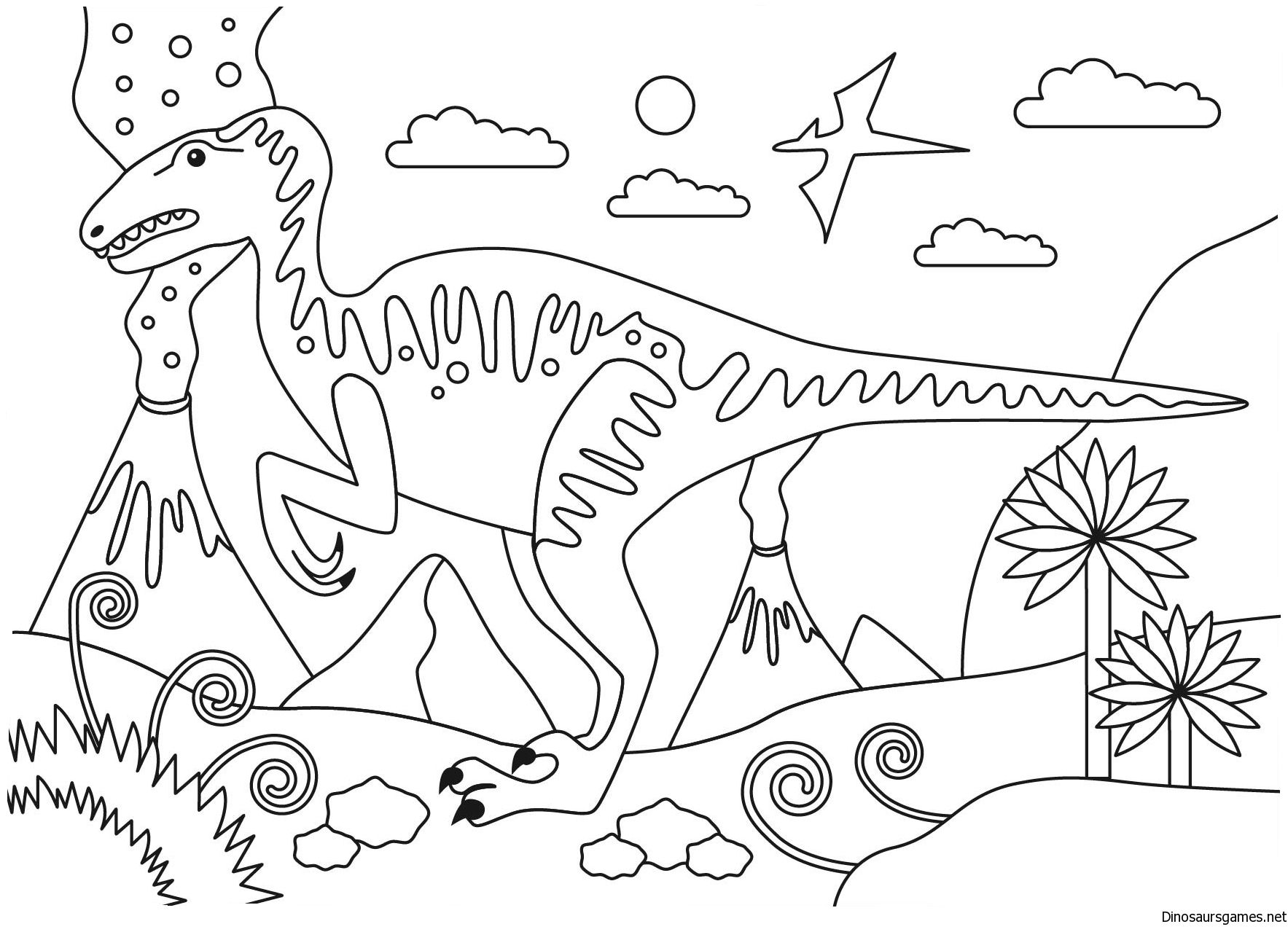 Velociraptor Dinosaur Coloring Page Dinosaur Coloring Pages Coloring Pages Dinosaur Coloring