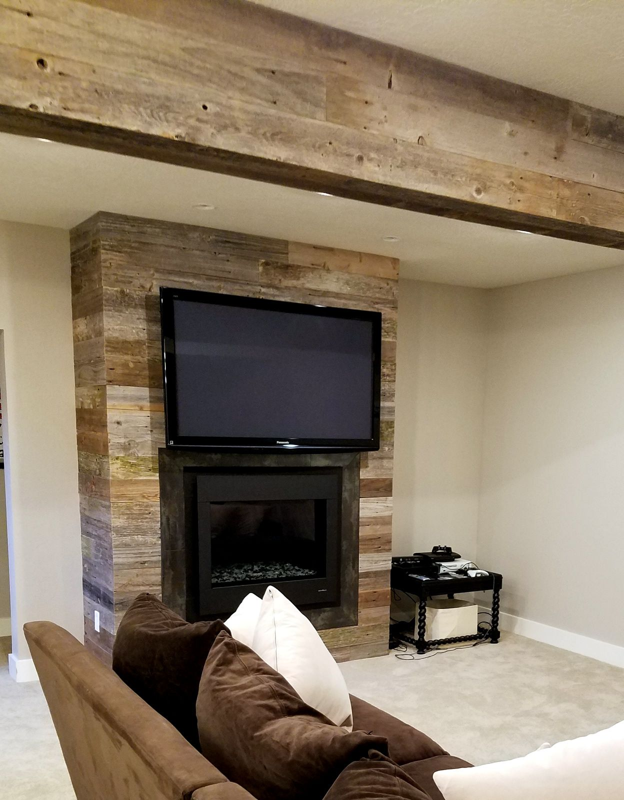 Nice Look With Our Reclaimed Fencing On A Fireplace