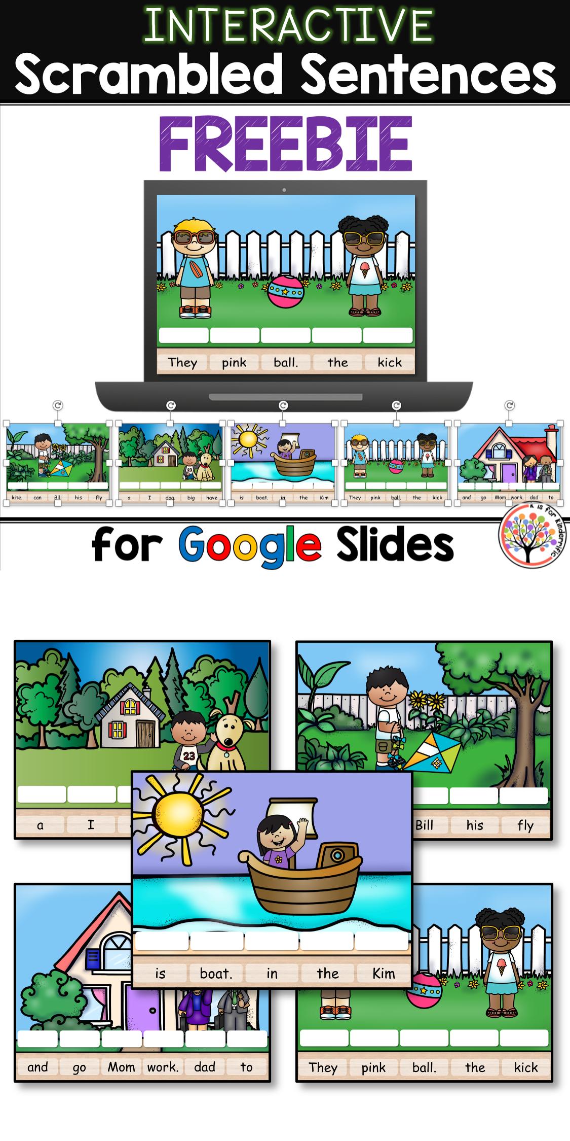 Scrambled Sentences FREEBIE for Google Slides™ | Distance Learning