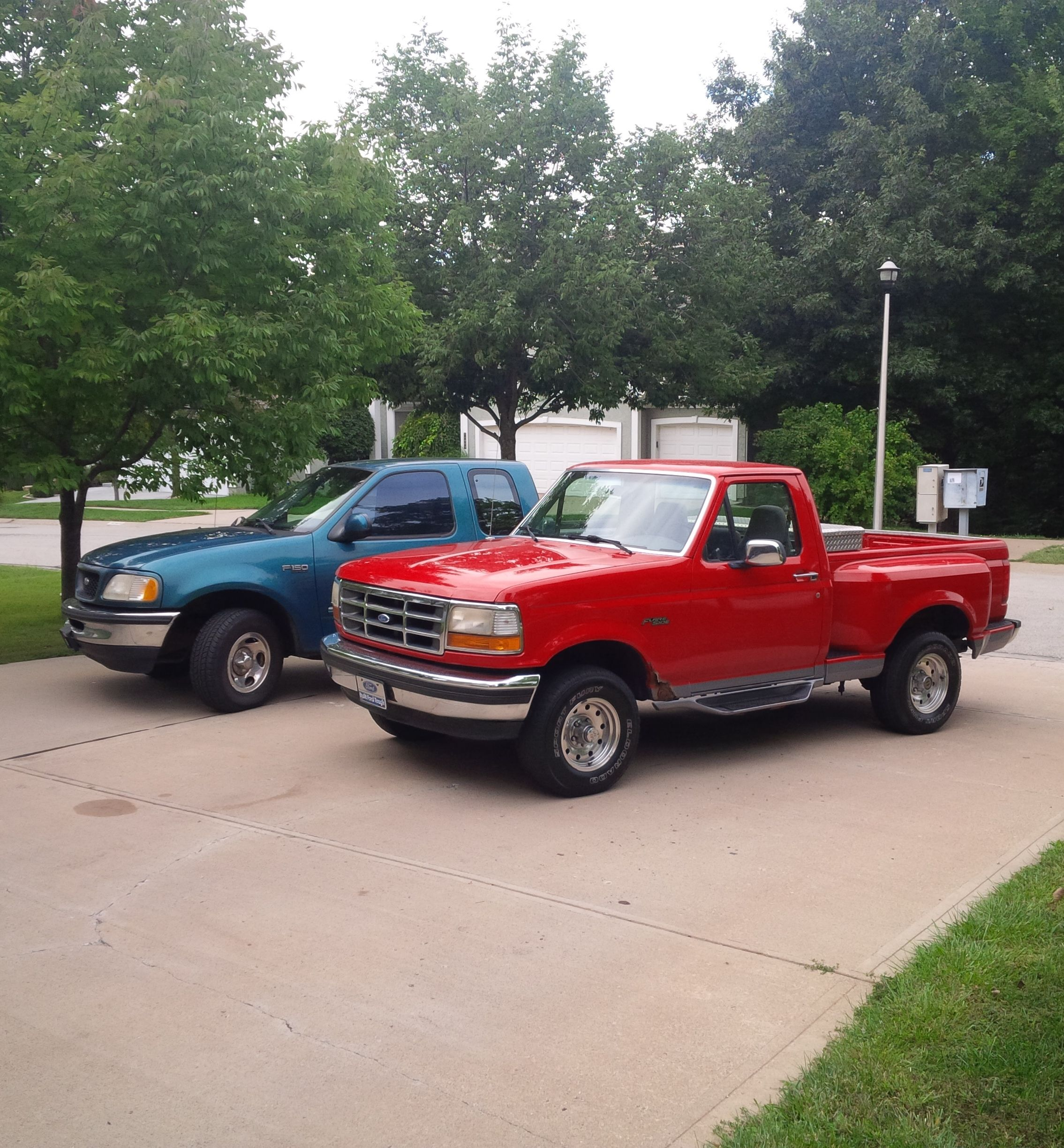 My 97 canadian f 150 and my 95 f 150 flareside