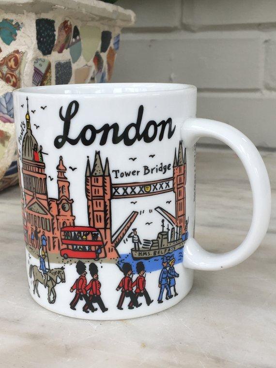 bb5372adea6 vintage London England souvenir mug, tea coffee cup, Peter Smith ...