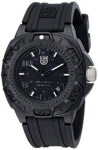 Luminox Men's 0201.BO Sentry 0200 Blackout With Rubber Band Watch - http://jewelryfromusa.com/luminox-mens-0201-bo-sentry-0200-blackout-rubber-band-watch/