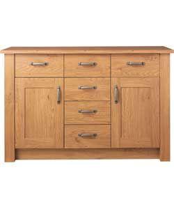 Buy Argos Home Ohio 2 Door 6 Drawer Sideboard Oak Effect Sideboards Mebel Kuhnya