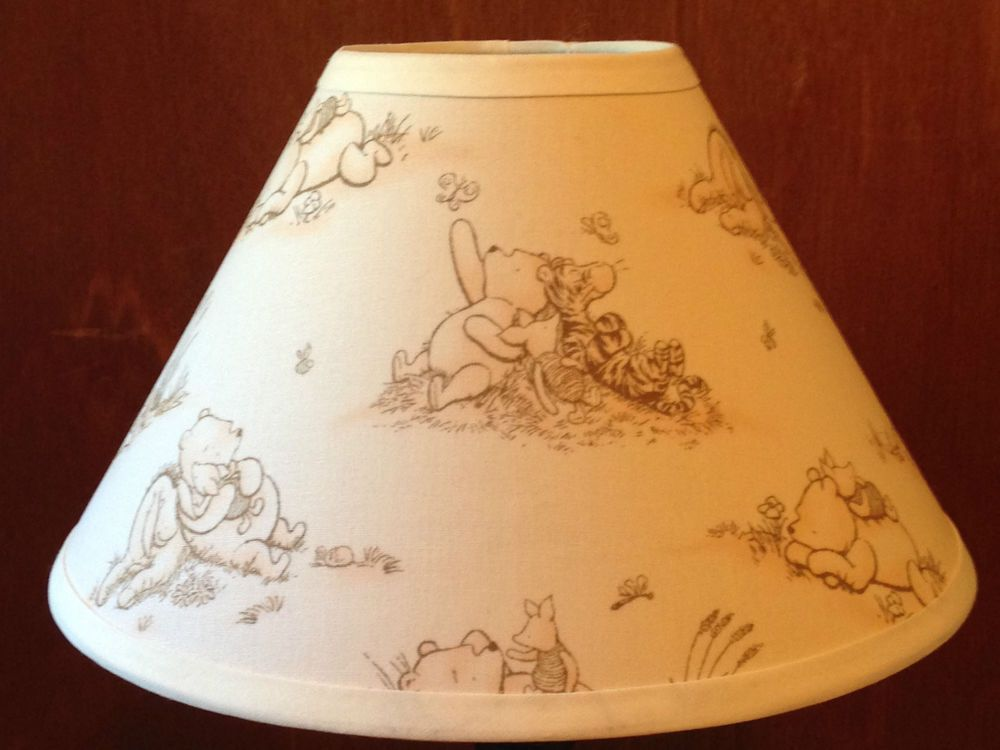 Winnie the pooh fabric nursery lamp shade nursery fabrics and winnie the pooh fabric nursery lamp shade mozeypictures Gallery
