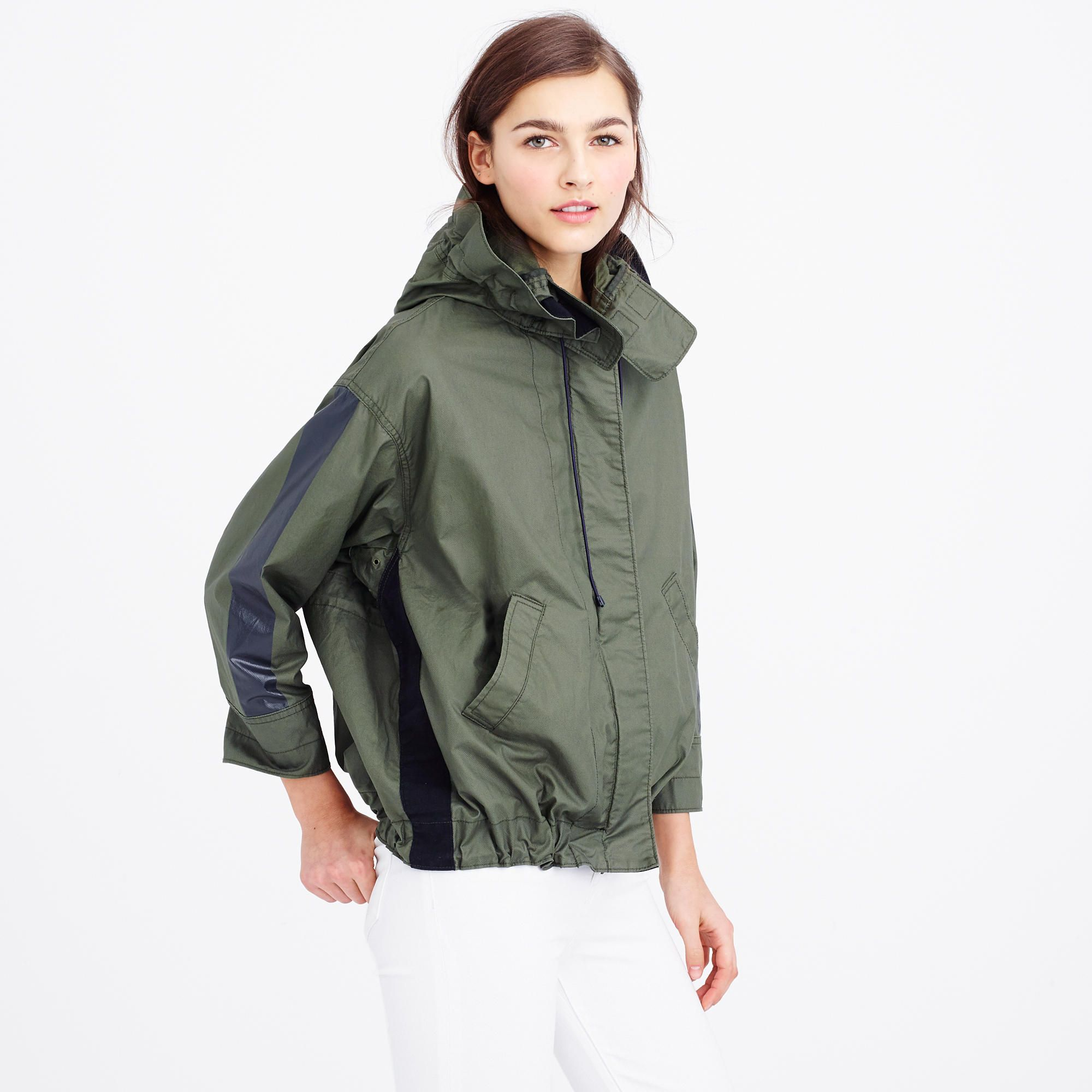 Cinched swing jacket : cotton | J.Crew