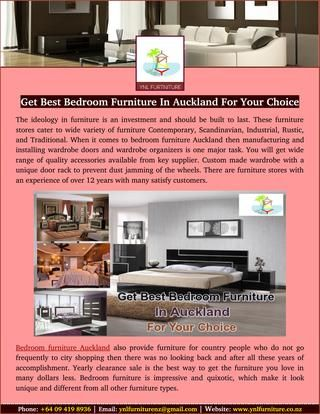 Get best bedroom furniture in auckland for your choice | Luxury ...