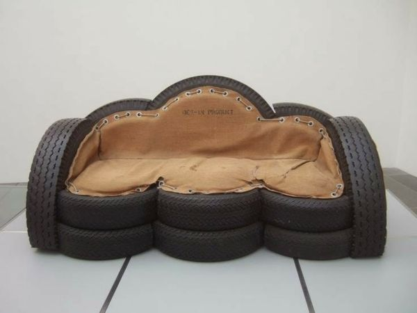 Möbel möbel braun gartenmöbel : Möbel wolke Autoreifen autoreifen recycling sofa braun | Reifen ...
