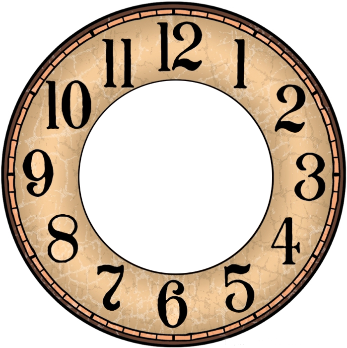 Clock Face Printable Paper Diy Ideas Template Watch Faces Vintage Clocks Wall