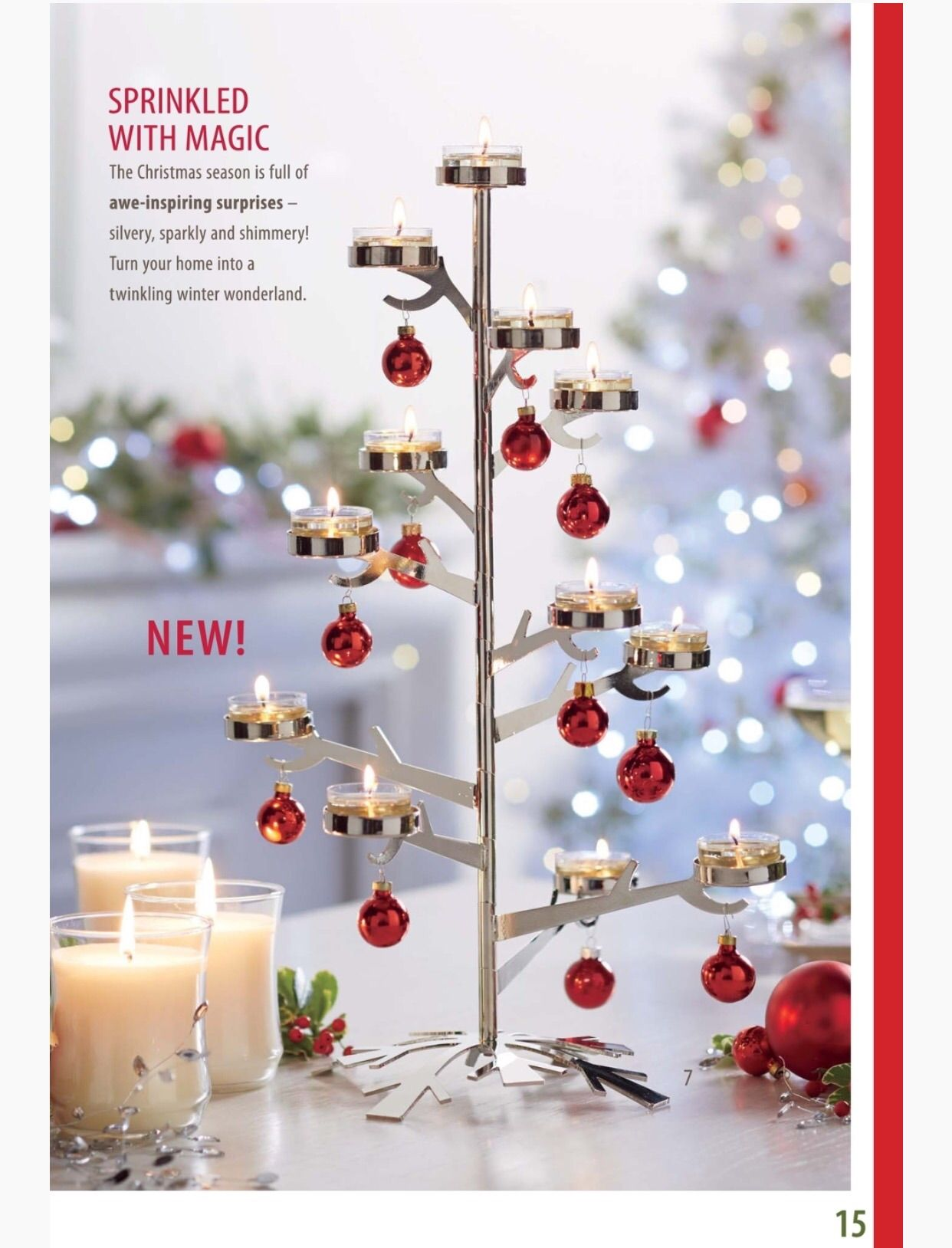 Partylite Fall Holiday Catalog Page 15 Silver