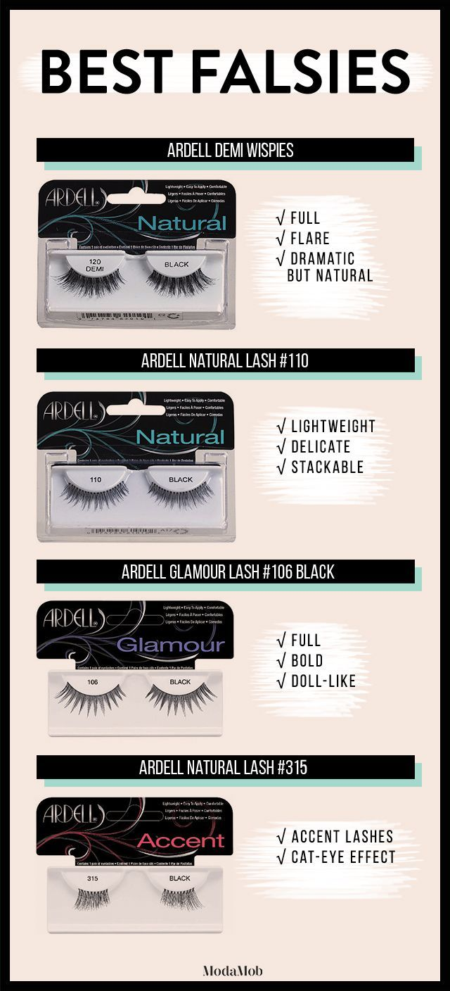 05b4ed8ff0d False Lashes 101: Your Guide to Picking the Perfect Pair | Ardell Demi  Wispies, Ardell Natural Lash #110, Ardell Glamour Lash #106, Ardell Natural  Accent ...
