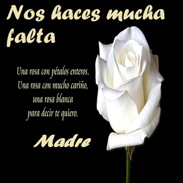 Frases En Imagenes Para Una Mama Muerta Te Extrano Pinterest
