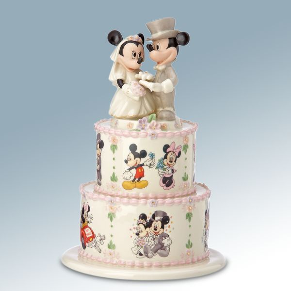 Disneyu0027s Minnieu0027s Wedding Day Wishes Cake Topper Figurine   Lenox