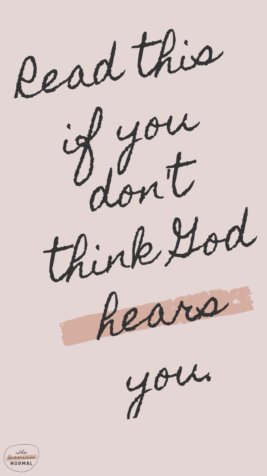 Does God hear ME when I pray?!