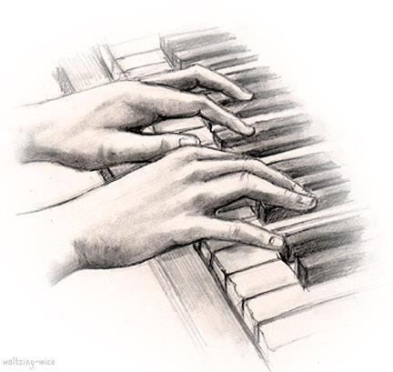 The Magnificent Concert Pianist | Music drawings, Piano art, Drawing piano
