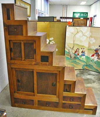 Marvelous Fm19   Japanese Furniture Antique Kaidan Dansu Step Chest