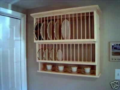 Tier Crown molding moulding Wood cup Plate Dish Rack ART shelf Cabinet kitchen eBay TALK Get answers and connect wit : plate and cup rack - pezcame.com