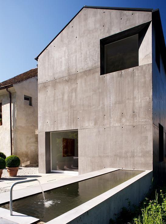 Moderner Anbau architektenhäuser bauernhaus mit monolithischem anbau architecture