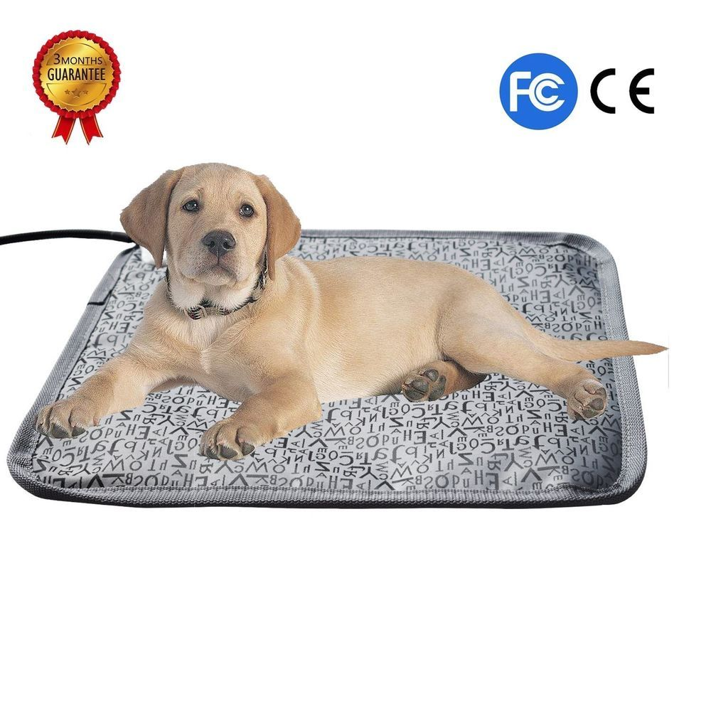Large Electric Waterproof Heated Dog Bed Heating Pad Chew