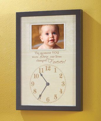 Remember The Precise Time When Your Family Was Blessed With A New Addition Moment You Were Born Frame Hands Are Movable So Can Display