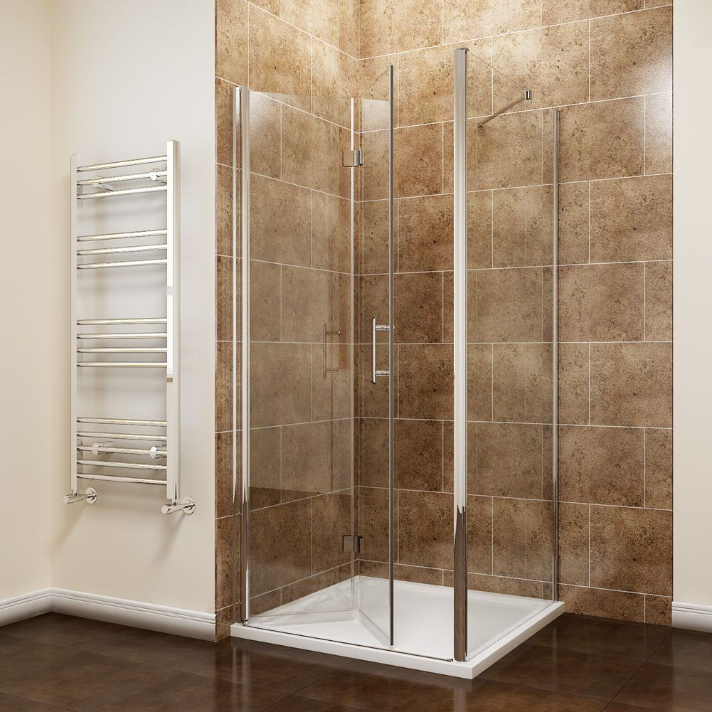 Details About Frameless Bifold Shower Door Enclosure Side Panel And Tray 6mm Glass Screen Bifold Shower Door Frameless Bifold Shower Doors Shower Doors