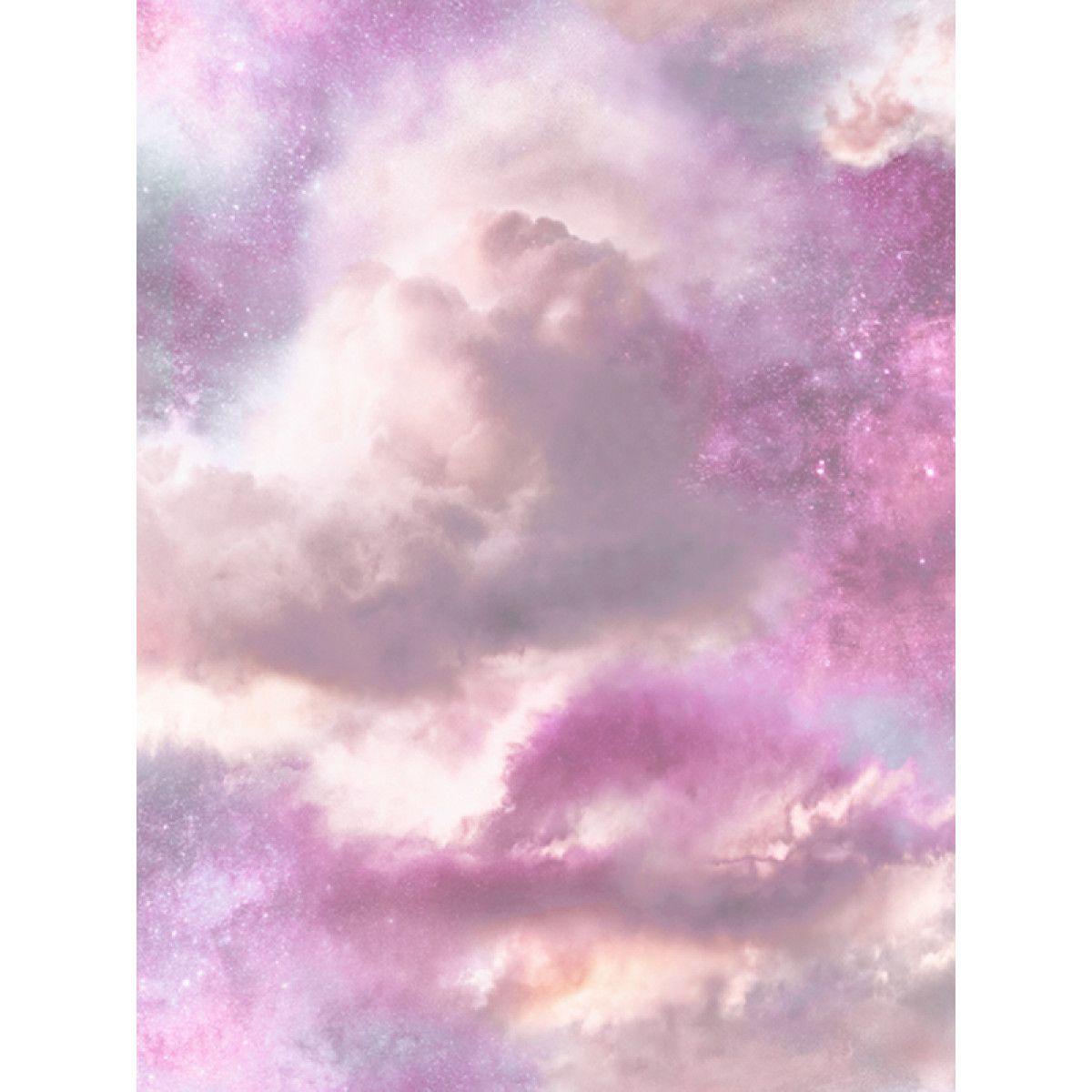 Diamond Galaxy Cloud Glitter Wallpaper Purple And Pink Arthouse 260009 Pink And Purple Wallpaper Purple Wallpaper Cloud Wallpaper