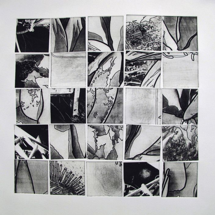Mary ince fractured squares 2 etching 20 x