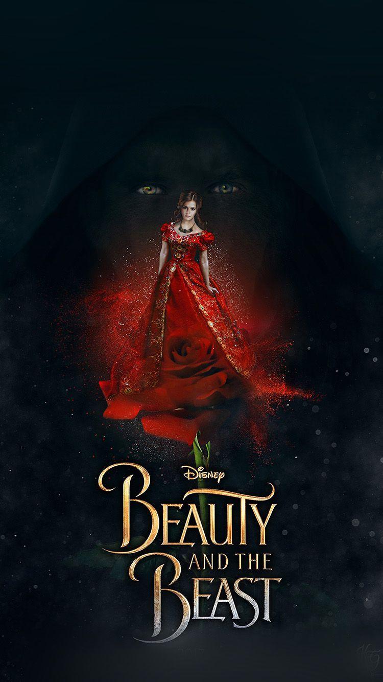 Disney Beauty Beast Poster Illustration Art Wallpaper Hd Iphone