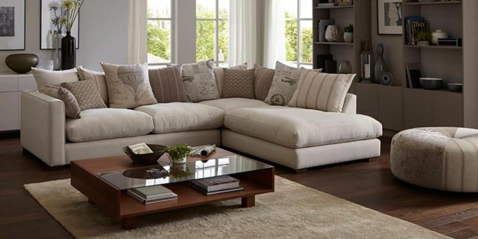 Small Living Room L Shape Sofa in 2020 | Sofa set designs ...