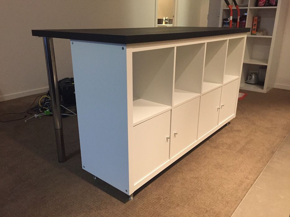 Cheap, Stylish IKEA Designed Kitchen Island Bench For Under $300 | IKEA  Hackers. Locking Rolling Castors Would Be A Good Addition