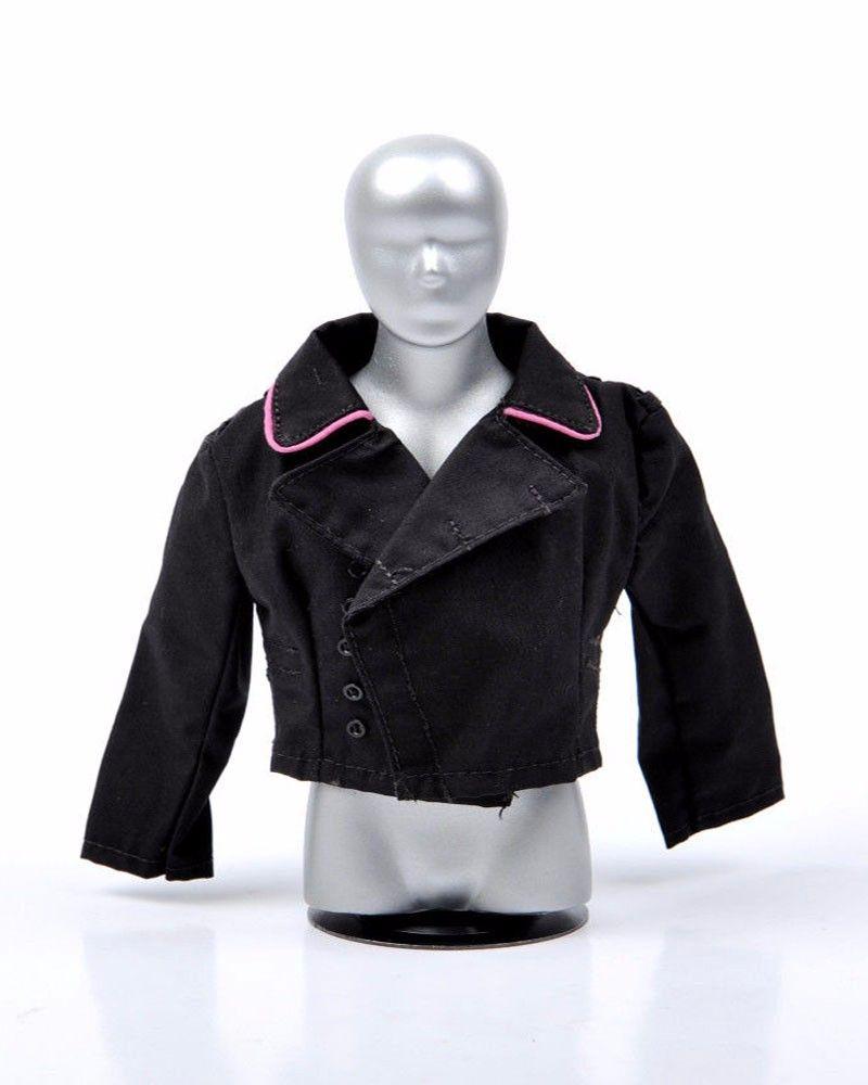"1//6 Scale Black Coat Kleidung Lederjacke für 12 /""Action Figure"