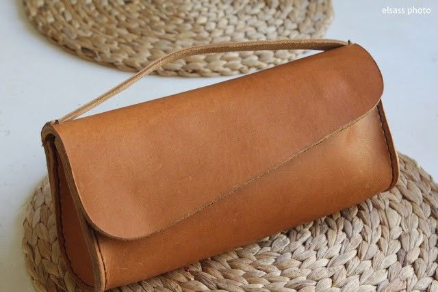 elsass: leather clutch
