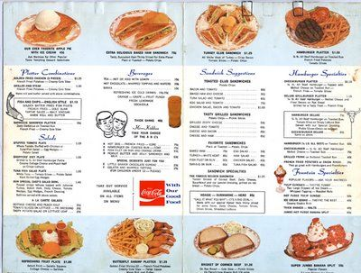 WOOLWORTH'S Lunch Counter Menu 1970 ! When you get to the
