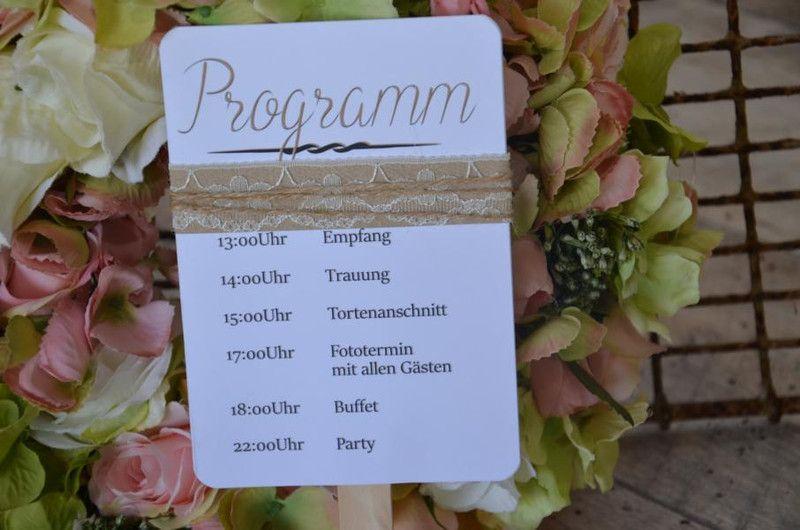 Hochzeitskarten Facher Programmheft Kirche Hochzeit Tilda 60 X