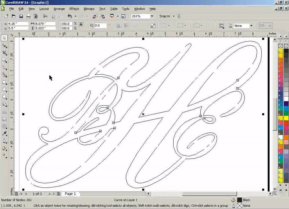 Line Art Corel Draw Tutorial : Corel draw clean up lines after welding