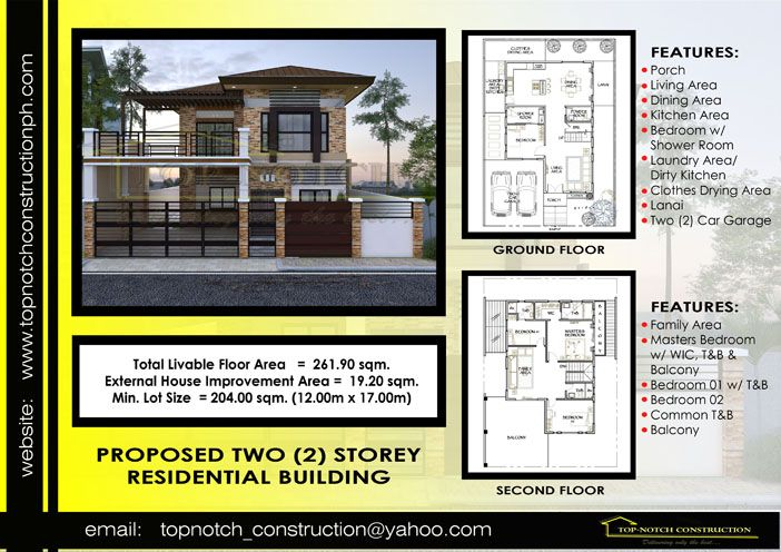 Two storey residential model house plan philippines also rh pinterest