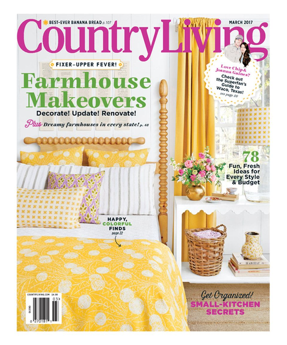 Take a look at this Country Living Magazine Subscription today!