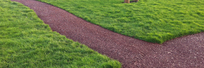 Resin Bound Rubber Mulch In Thorne Recycled Eco Bark Shred
