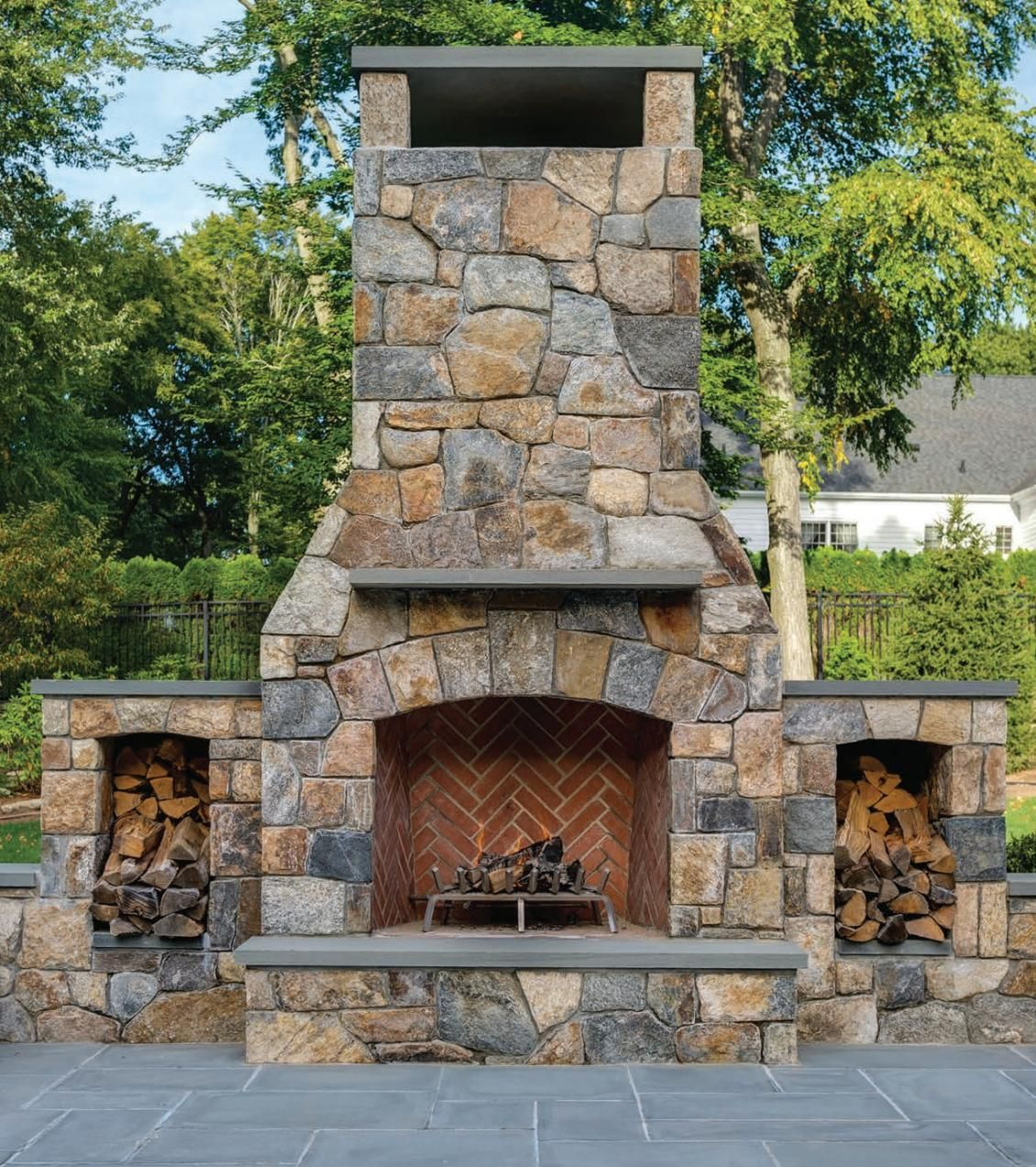 East Coast Home Design In 2020 Outdoor Fireplace Patio